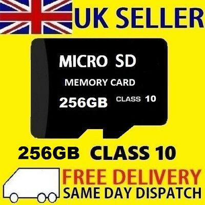New 256GB Micro SD Card Flash Memory TF SDXC 256G UK - CLASS 10 - UK SELLER
