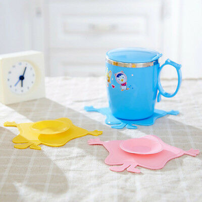 Anti Slip Feeding Double Sided Tableware Cup Mat Sucker Bowl Placemat Coaster