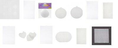 Plastic Mesh Canvas, Round,Circle,Square,Oblong,Heart needlework all sizes