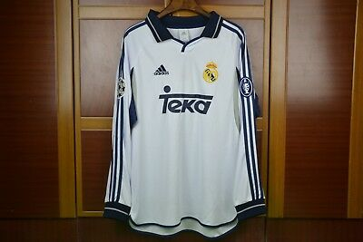 b83070e67ee RAUL REAL MADRID jersey 1998 Home champions #7 - $56.80 | PicClick
