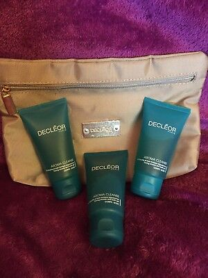 Decleor Toning Shower And Bath Gel 50ml Tubes X3 150ml Total Free Gold Pouch