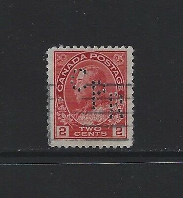 CANADA - #106 - 2c KGV ADMIRAL ISSUE C33 CPR PERFIN CANADIAN PACIFIC RAILWAY CO.