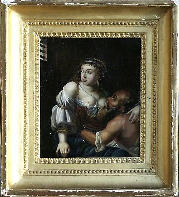 17th CENTURY FLEMISH OLD MASTER OIL ON CANVAS - ROMAN CHARITY - PERO & CIMON