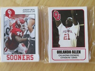 2008 University of Oklahoma Football and Basketball Card Set
