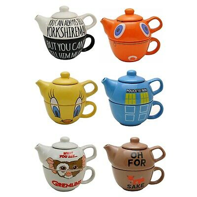 Novelty Teapots for One. Pot Cup Funky Unique Gift for Tea Lover
