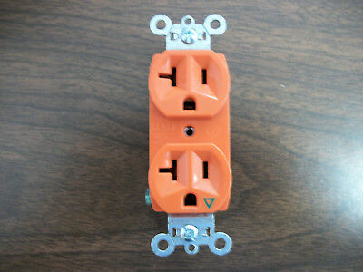 Pass & Seymour Or Hubbell Orange Duplex Recptacle (Ig5362)