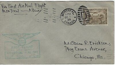 Canada - #C1 - First Flight Cover Montreal - Albany (1928) Fdc