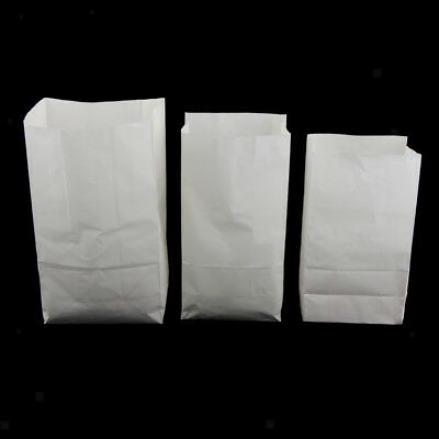 Oilproof Kraft Paper Food Packing Take away Takeout Bags, White