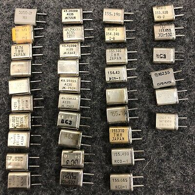 Lot of 35 Frequency Crystals - Ham Radio Police Scanner CB Assorted