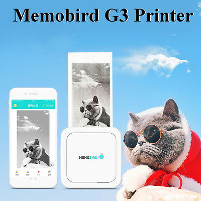 Portable Thermal Printer Wireless Bluetooth 4.0 Photo Paper Printin For Android