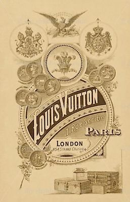 Furniture Decal Image Transfer Antique Vintage Louis Vuitton Label Shabby Chic