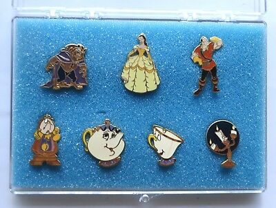 Disneyland CAST EXCLUSIVE: Beauty and the Beast 7-pin set in case, LE 5000
