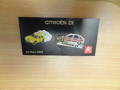 pin's citroën zx 16 mars 1991 - lancement officiel en France