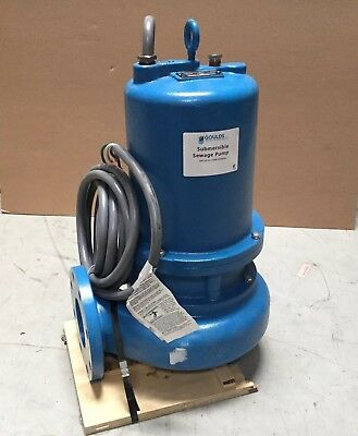 GOULDS WATER TECHNOLOGY 7-1/2 HP Manual Submersible Sewage Pump 460 Vol WS7534D4