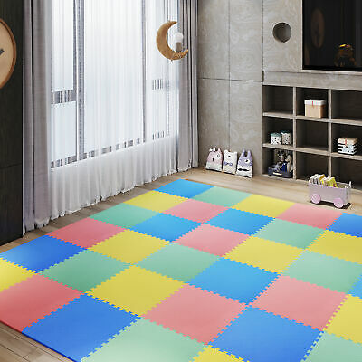 54pcs EVA Foam Interlocking Tiles Non-Skid Exercise Workout Area 209sq.ft