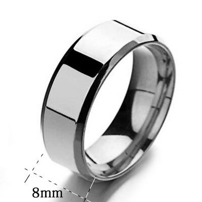 Noble Men Titanium Stainless Ring Lover Couple Rings Jewelry Party Rings Sz5-13