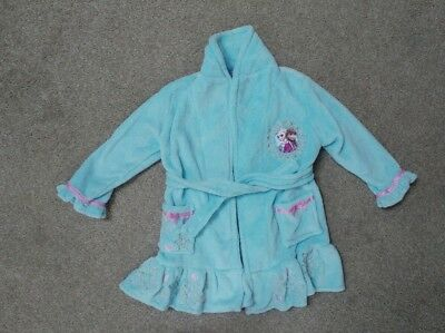 Girls Disney Frozen Dressing Gown Robe Fleece Elsa & Anna Age 3 Years Brand New