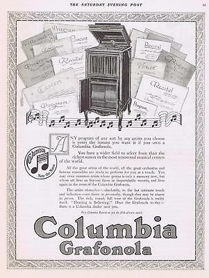1916 COLUMbIA GRAFONoLA PRINT ADVERTISEMENT