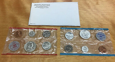 1962 Mint Set 10 Coin Set In Original Envelope - 90% Silver - Nice Looking Coins