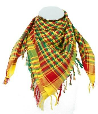 Traditional kurdish kurd scarf - Gerila YPG YPJ - red green yellow - Peshmerga