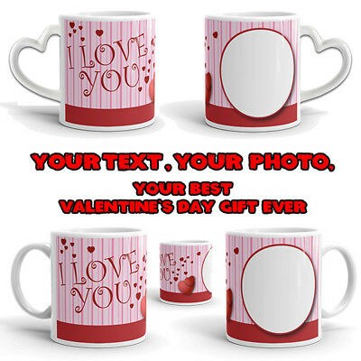 Valentine's Day Personalised Mug Cup Gift Birthday Free Love Romantic Happy