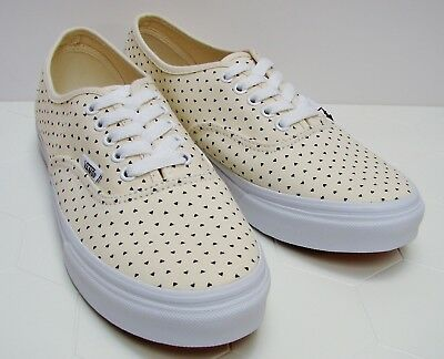 c58fb1731739e3 Vans Authentic Slim Micro Hearts White Black VN-000XG6GJG Women s Size  8.5