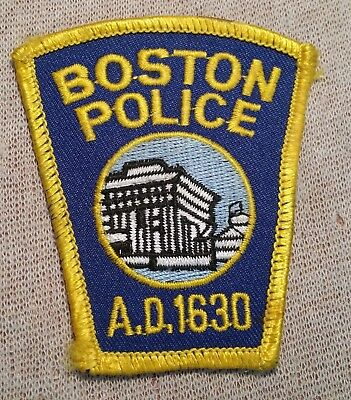 MA Boston Massachusetts Police Patch (3In)