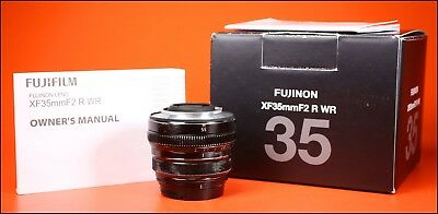 Fujifilm 35mm F2 R WR Fujinon Aspherical Fuji X Mount Lens With Front Cap & Box