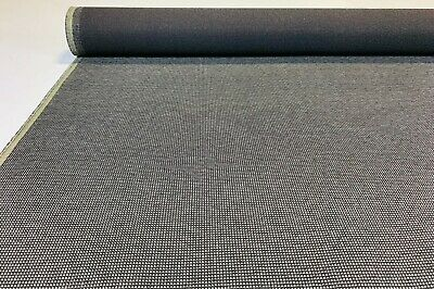 """Vintage Coal Grey Canvas Tweed Fabric 56""""W Seat Upholstery Church Pew Auto"""