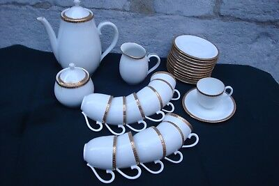 Service A Cafe Complet 12 Tasses Georges Boyer Limoges Double Dorures Neuf