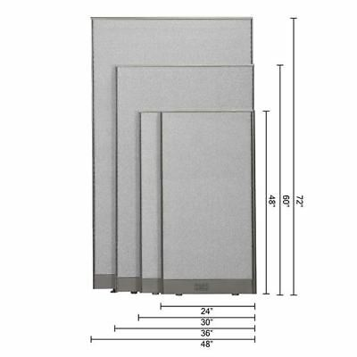 GOF Office Partition Wall Room Divider Panel Cubicle 4 feet, 5 feet, 6 feet Tall