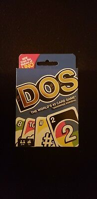 Mattel Games UNO DOS Card Game (NEW) classic family card game!
