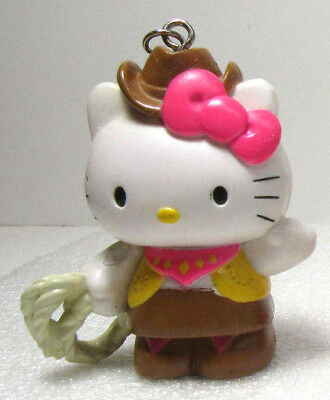 63c1941e1 Hello Kitty COWGIRL Sanrio Cat Kitten Character Figures Keychain Backpack
