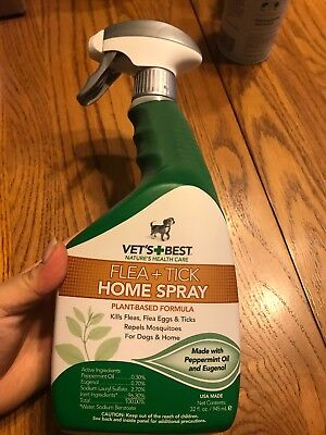 Vet's Best Natural Flea and Tick Home & Dogs Spray  & Mosquito Repellent 32oz