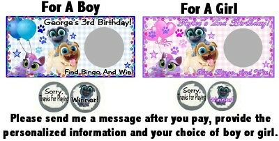 30 Puppy Dog Pals Birthday Party Baby Shower Mini Bubble Stickers