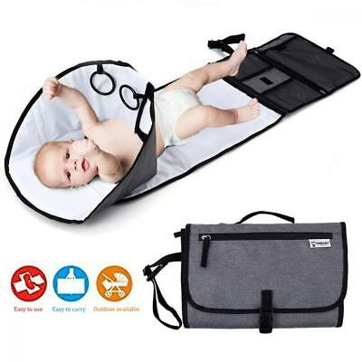 Baby Portable Changing Station,Diaper Mat,Travel Diaper Pad with Head...