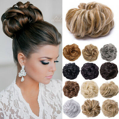 Messy Hair Scrunchie Thick Easy Bun Hair Piece Up Do Fake Extensions 35/40g TE6