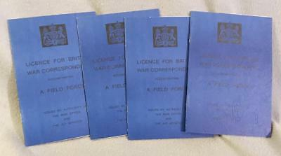Reproduction British WWII War Correspondent License WWII-Lot of Four