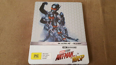 New Marvel Studios Ant-Man And The Wasp Limited Edition Steelbook 4K Uhd Blu-Ray