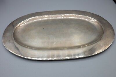 """Sanborns Sterling Silver Hand Hammered Tray, Platter, Mexico, 10 1/2"""""""