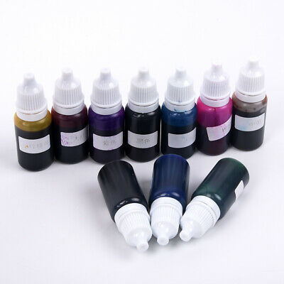 10 Bottle Epoxy UV Resin Dye Colorant Resin Pigment Mixed Color Craft Set Tool