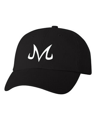 Majin M Symbol - Black Unstructured Dad Hat - White Design #Dragonball Z
