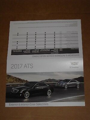 2017 Cadillac Ats Exterior Interior Color Chip Chart Brochure Mint!