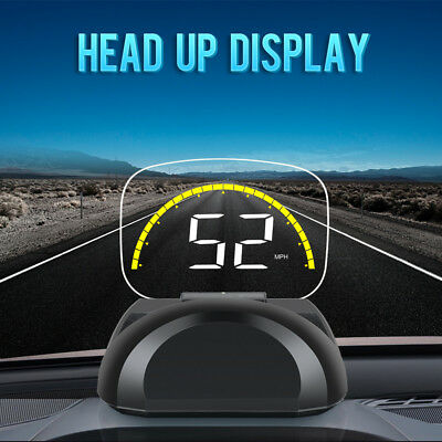 "C700S Car HUD OBD2 Head Up Display Overspeed Warning System Projector 2.6"" #2H"