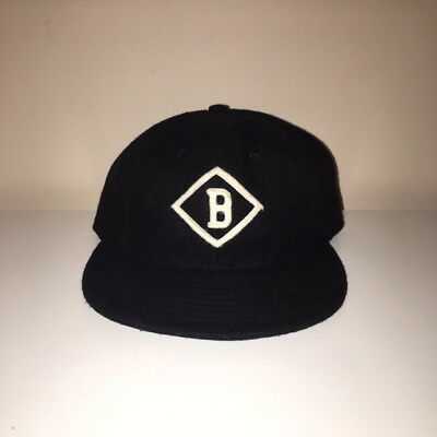 Ebbets Field Flannels Bismarck Churchills Throwback Fitted Hat Size 7 1 2 f236a9bdeac9