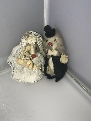 Original Fur Toys Made In W Germany Bride And Groom