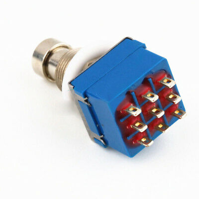 3PDT 9 pin Push button Foot Switch FOR DIY Guitar Effect Pedal Stomp True Bypass