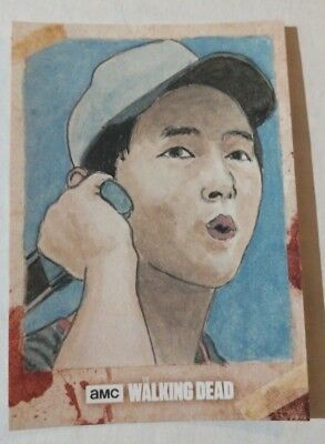 2018 Topps Walking Dead Full Color SKETCH Card 1/1 Shaow Siong Glen