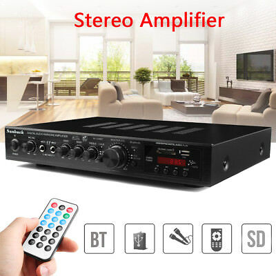 Sunbuck 720W 5CH Bluetooth Amplifier Amp LED Digital Stereo Home Karaoke 4Ohm AU