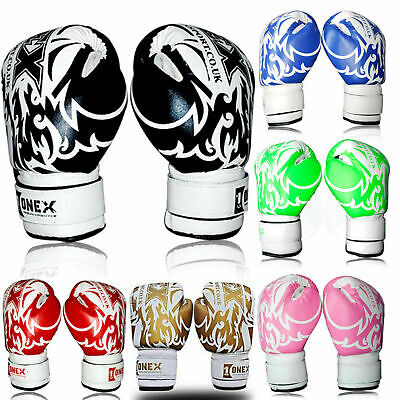 Kids Boxing Gloves Junior Punching Bag Mitts MMA 2-4-6oz Training Sparring Mitts